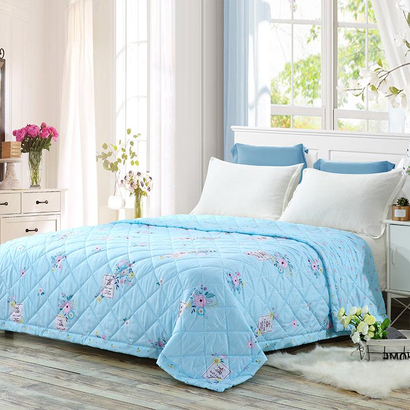 当当优品家纺 可水洗印花夏凉被 110x150单人空调被 安娜蓝