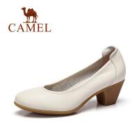 camel骆驼女鞋 简约舒适 春季新款圆头女鞋简约通勤