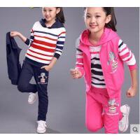儿童运动三件套童装女童韩版时尚户外新款装休闲百搭10大童女装12岁女孩15