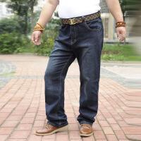 男裤大码男装牛仔裤秋冬新款肥佬加肥加大高腰弹力牛仔大号宽松休闲裤