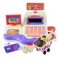 宝丽 儿童过家家玩具仿真超市收银机益智女孩收银台 多功能-收银机