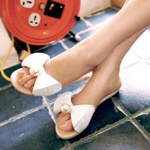 O'SHELL欧希尔新品057-1675韩版平底鞋女士凉拖鞋