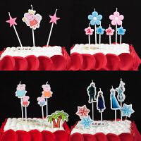 孩派 儿童生日派对用品 卡通生日蜡烛 烘焙摆件蜡烛 长杆蜡烛