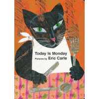 Eric Carle: Today Is Monday board book 今天是星期一(卡板书)978039923