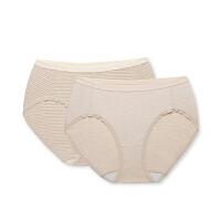 全棉时代 女士针织中腰三角裤2件装