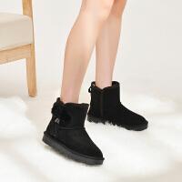 【优质长毛绒防滑牛筋底】抗寒保暖新款冬短筒靴套脚高帮