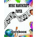 预订 Music Manu* Paper Notebook: A 100 pages of blank sheet m