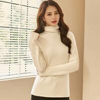 丝【77118】高端质感 堆堆领造型羊绒衫女短款 纯山羊绒