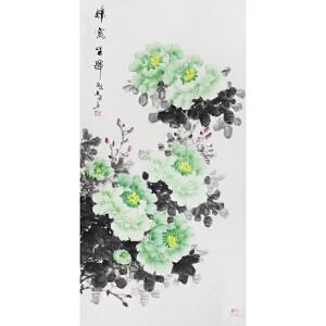 郭艳霞 《绿宝生辉》  69*137cm