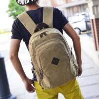 【满2件6折】白领公社 书包 男2017新款男士百搭商务电脑包学生双肩包男式大容量旅行包时尚背包