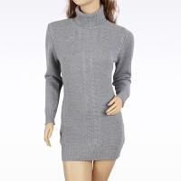 羊绒衫女士毛衣鄂尔多斯加大码中长款羊绒衫女士高领加厚显瘦纯色打底衫百搭长袖毛衣秋冬