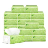 清�L抽�淡�G花�巾200抽20包整箱 抽取式餐巾���惠�b家用餐巾�