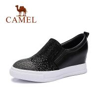 Camel/骆驼女鞋  时尚水钻内增高休闲百搭深口单鞋