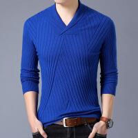 秋冬中老年男士毛衣V领针织衫纯色加厚羊毛衫中青年休闲爸爸装T恤M177-26033