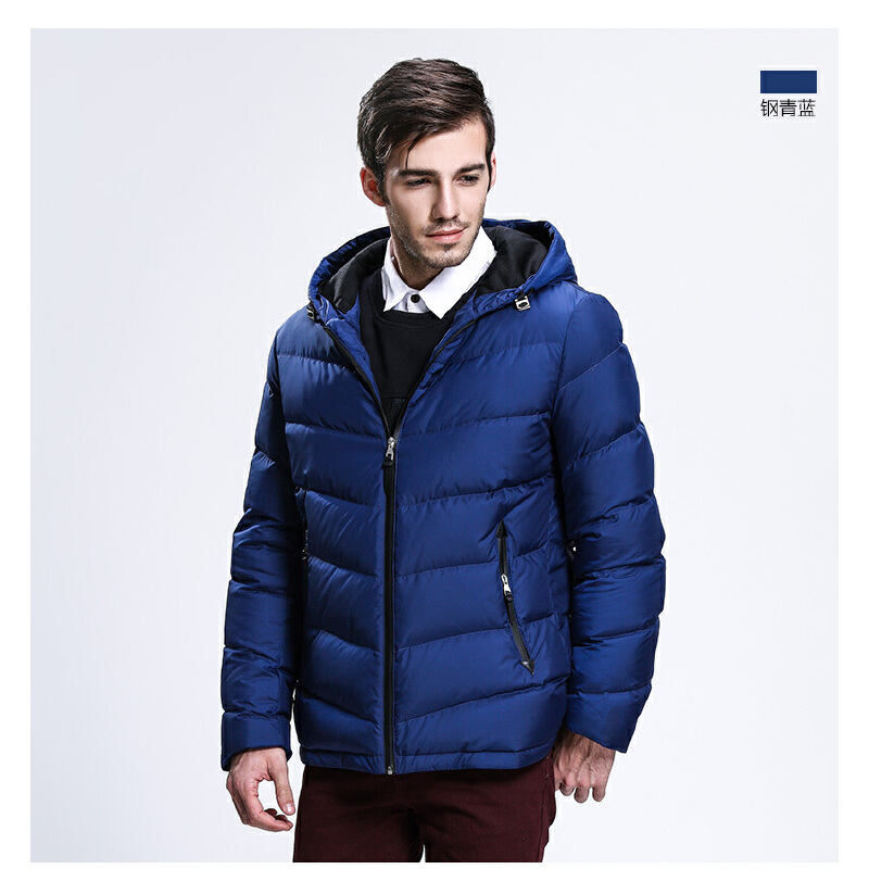 坦博尔轻薄修身短款男士羽绒服新款时尚青年潮时尚冬季外套TA3335轻薄时尚 冬季新款