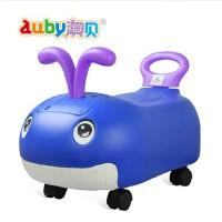 澳贝新品宝宝音乐小鲸鱼滑行车童车儿童玩具车可坐人1-3岁