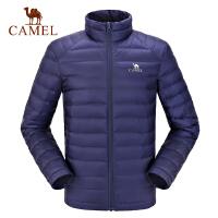 camel骆驼运动羽绒服 男女轻薄羽绒服情侣款立领保暖外套