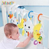 jollybaby祖利宝宝 手音乐宝宝拉铃玩偶安抚玩具婴幼儿可入口睡眠毛绒公仔
