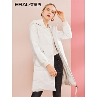ERAL/艾莱依2017年商场同款撞色拉链大衣617104149