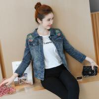 Re新女士外套韩版新款150-155矮小个子今年潮流女装衣服好看漂亮牛仔外套 蓝色