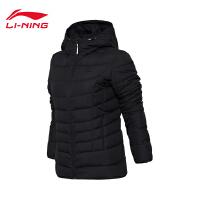 李宁短羽绒服女士训练系列防风透湿保暖90%白鸭绒运动服AYMM106