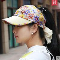 韩版休闲户外可调节无顶太阳帽遮阳帽棒球帽子新款潮空顶帽女士帽遮
