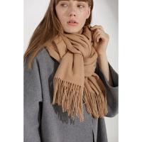 秋冬季羊毛围巾女韩版百搭学生纯色超大披肩两用羔羊绒保暖厚