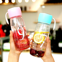 运动便携随手杯女学生韩版清新简约刻度水瓶水杯塑料杯杯子