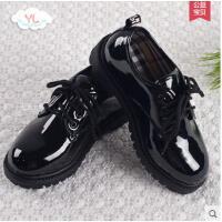 儿童黑色小皮鞋简约大气男童演出皮鞋学生童鞋大童单鞋户外新款白色童鞋韩版