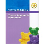 预订 Saxon Math K: Texas Teacher's Notebook [With Booklet] [I