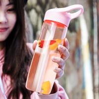 少女创意潮流便携学生运动杯子吸管杯塑料水杯