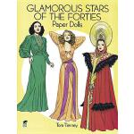 预订 Glamorous Stars of the Forties Paper Dolls [ISBN:9780486