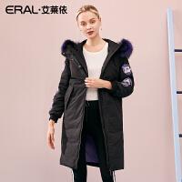 【其他平台全包】ERAL/艾莱依小马宝莉联名款秋冬2018新款大毛领羽绒服女617105181