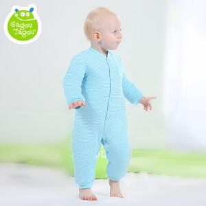 【加拿大童装】Gagou Tagou秋冬新品婴儿夹棉保暖连体衣 宝宝加厚外出连身衣