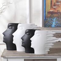 北欧现代简约家居饰品客厅电视柜酒柜新房装饰摆件抽象人头像摆设
