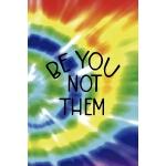 预订 Be You Not Them: Notebook Journal Composition Blank Line