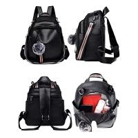 软皮休闲时尚旅行包校园书包小女孩双肩包背挎两用小背包