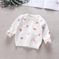 婴儿秋装宝宝毛衣女1-3岁女婴针织衫纯棉长袖上衣打底衫2春秋时尚302