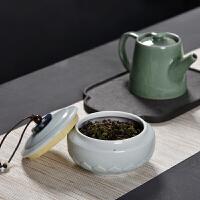 茶叶罐 家居密封陶瓷迷你茶盒2020新款便携古风素雅旅行储物罐茶具