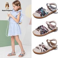 暇步士Hush Puppies童鞋女童凉鞋2020夏季新款中大童休闲软底防滑时尚儿童凉鞋