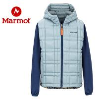 marmot土拨鼠19秋冬新款户外防风保暖男童双面3M短款棉服