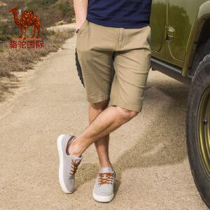骆驼男装休闲短裤男士夏季新款韩版五分裤夏天宽松运动裤子