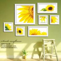 菲绣十字绣精准印布十字绣 向日葵的微笑七联画十字绣客厅大幅丝线