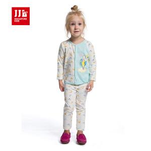 季季乐 春秋季童装男女宝宝纯棉套装可爱卡通舒适两件套PHQZ52077