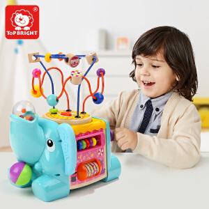 特宝儿 绕珠串珠儿童益智玩具1-2-3周岁百宝箱一岁宝宝早教积木120384