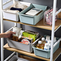 素色桌面收�{盒客�d零食收�{筐 �l生�g浴室化�y品面膜�s物整理盒