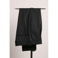 衬衫男学生春夏 男士那不勒斯巴黎扣九分西裤 英伦商务黑色羊毛西装裤pittiu00 西裤