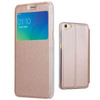 坚达  手机壳手机保护套翻盖皮套视窗保护套适用于oppo  R11S 皮套非智能皮套