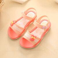 女童凉鞋新款韩版儿童夏季宝宝凉鞋女 童鞋小孩舒适软底公主