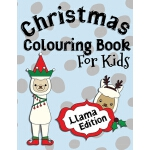 预订 Christmas Colouring Book For Kids Llama Edition: Perfect